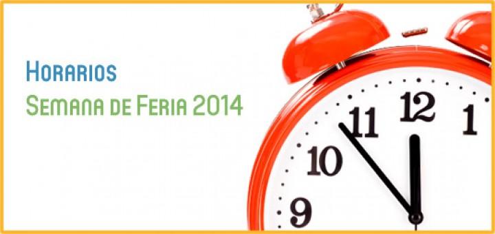 Horarios Feria 2014