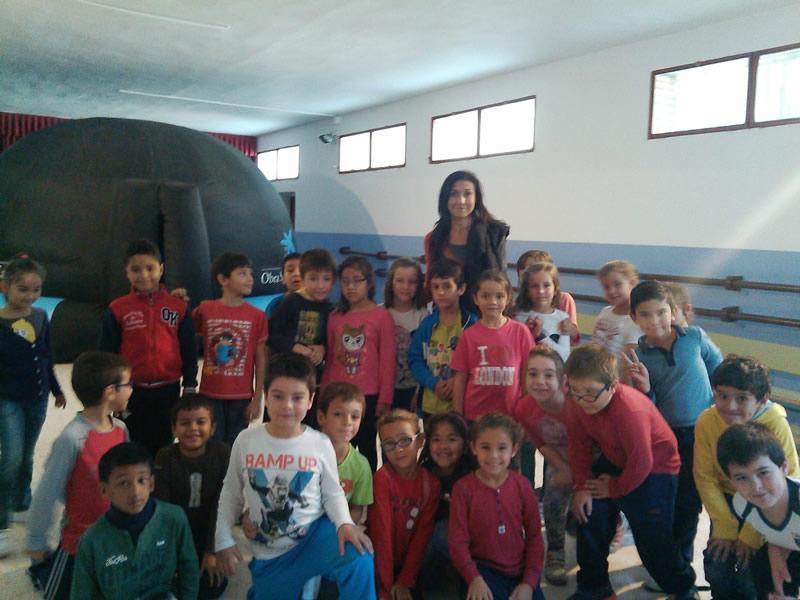 El Planetario en Otoño - Actividad en CEIP Arias Montano